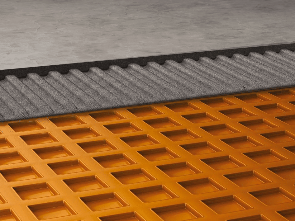 how to install ditra matting with tiles