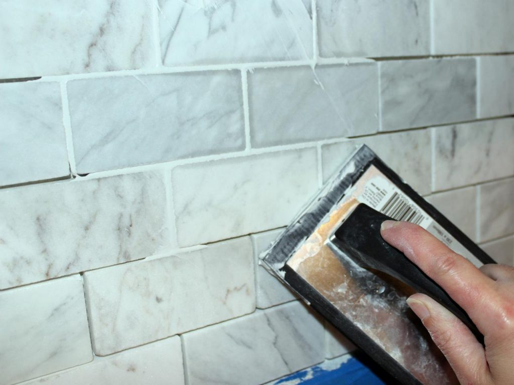 the grouting process, how to grout tiles