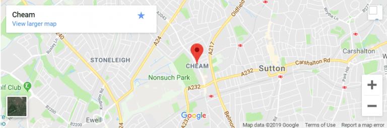 Cheam Map