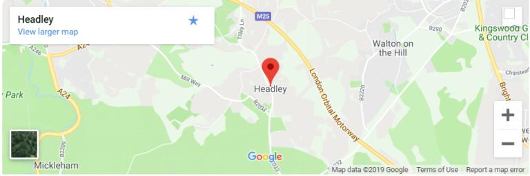 Headley, Surrey Map