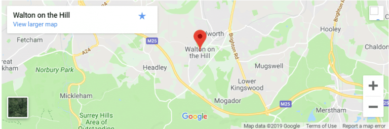 Walton on the Hill Map